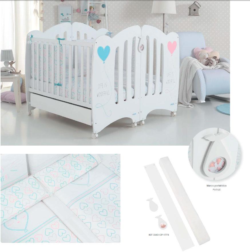 Micuna kit duo cuna gemelar mibebetienda - Cunas y accesorios para bebes ...