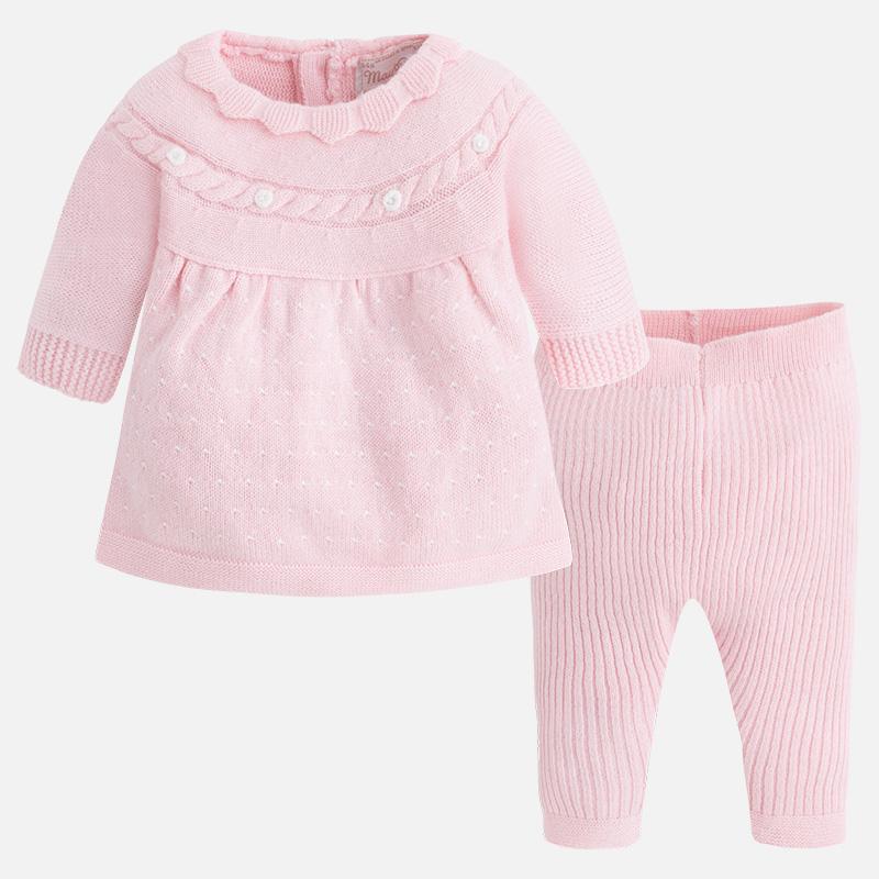 4c9e1e859 Oferta Conjunto Mayoral bebé niña rosa en tricot 02817 ...