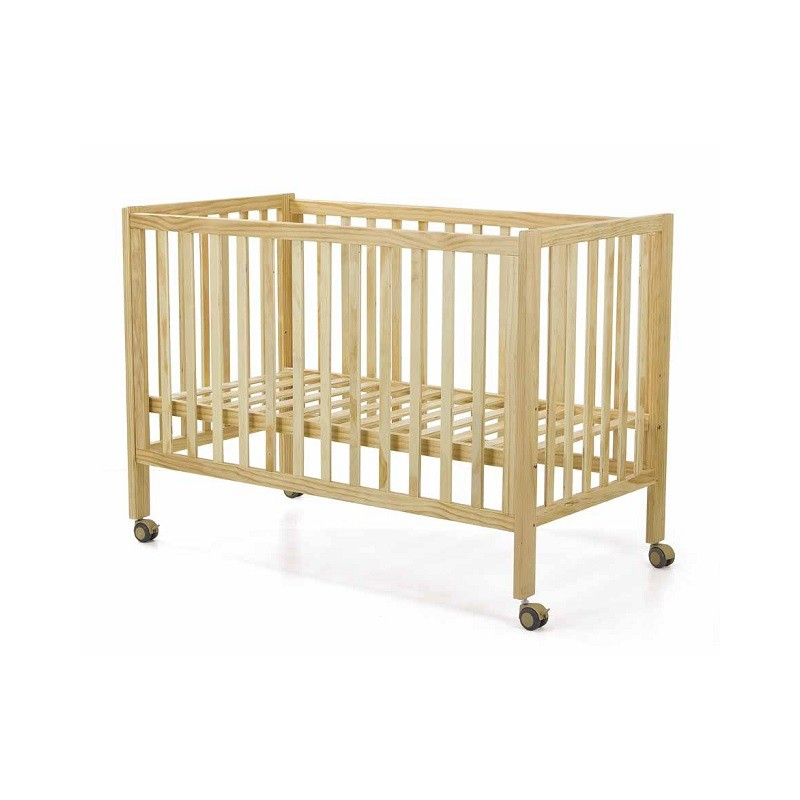 Cuna beb niza lacada en madera natural o blanco - Cunas para bebes de madera ...